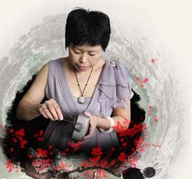 宜兴紫砂壶名家-贺洪梅-高级工艺美术师