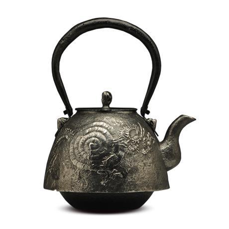 虎山工房 南部形龙纹砂铁壶