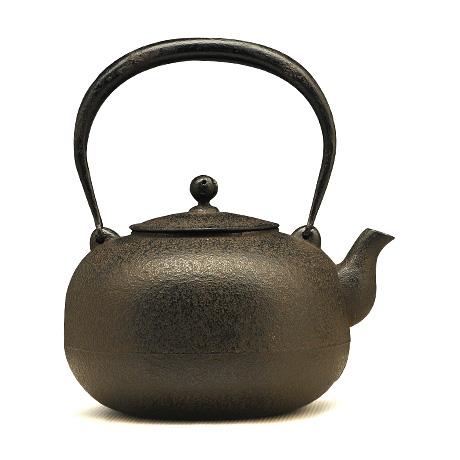 100%日本堂口直供-小丸形素文铁壶