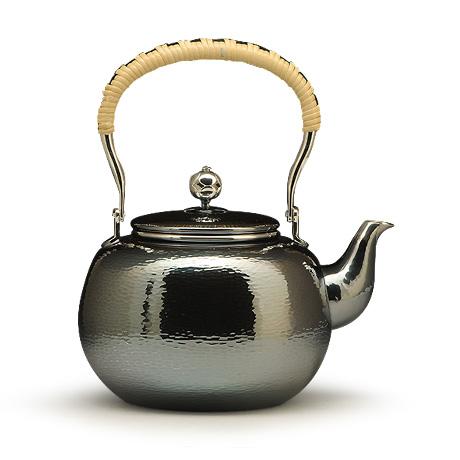 100%日本堂口直供-薰银铜镀银汤沸