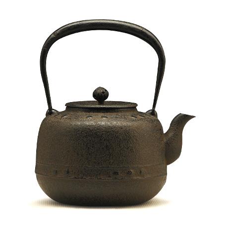 100%日本堂口直供-万代屋形铁壶