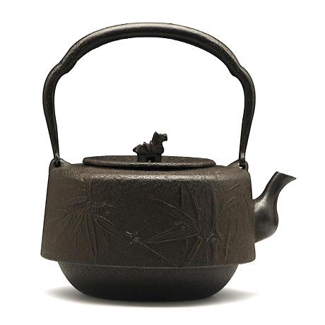 100%日本堂口直供-角万代竹铁壶