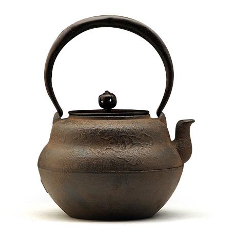 100%日本堂口直供-葫芦形银镶嵌铁壶