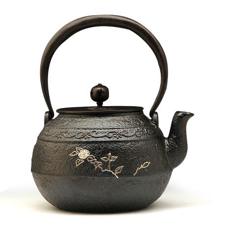 100%日本堂口直供-达摩唐草 椿铁壶