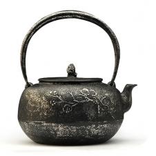 100%日本堂口直供--平丸梅砂铁壶