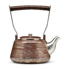 100%日本堂口直供--木目金银壶