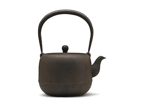 100%日本堂口直供-虎山工房 枣形线纹铁壶