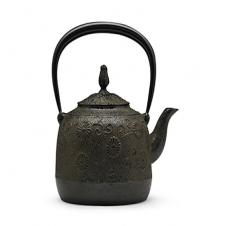 100%日本堂口直供--金野和司 立口唐菊铁壶