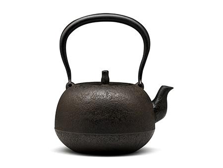100%日本堂口直供-下野典行 丸形素肌铁壶