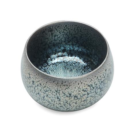 紫砂之家_古盏堂--专注建阳建盏|品茗杯|主人杯|白瓷杯-满天星蓝油滴大度杯