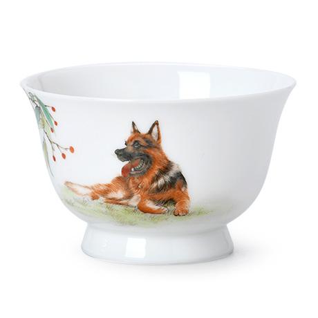 旺旺纳福图高足敞口碗杯