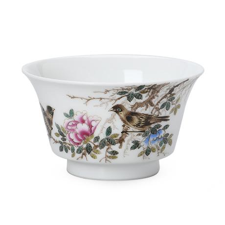 花开富贵马蹄杯杯