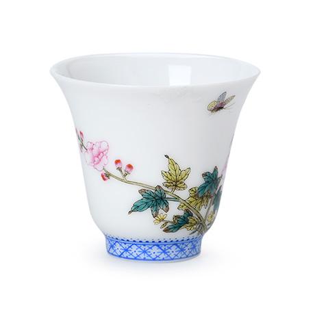 芳草芙蓉图铃铛杯