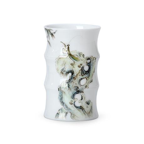 太湖石图竹节杯