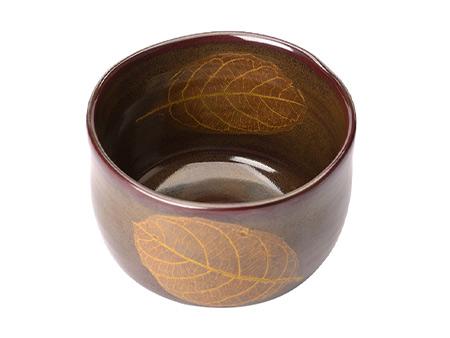 双木叶日式茶碗