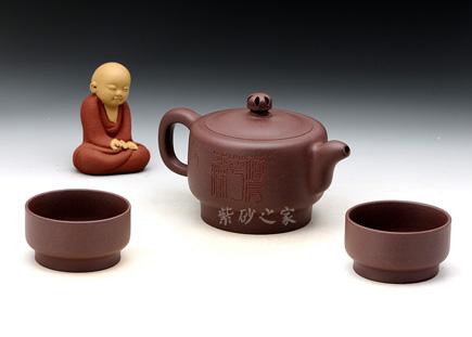 禅香组壶-青灰泥