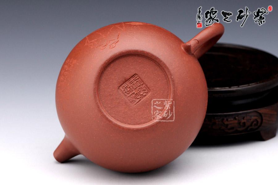 红色茶壶印章素材图片