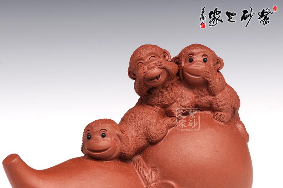 木雕葫芦和猴子题材图片