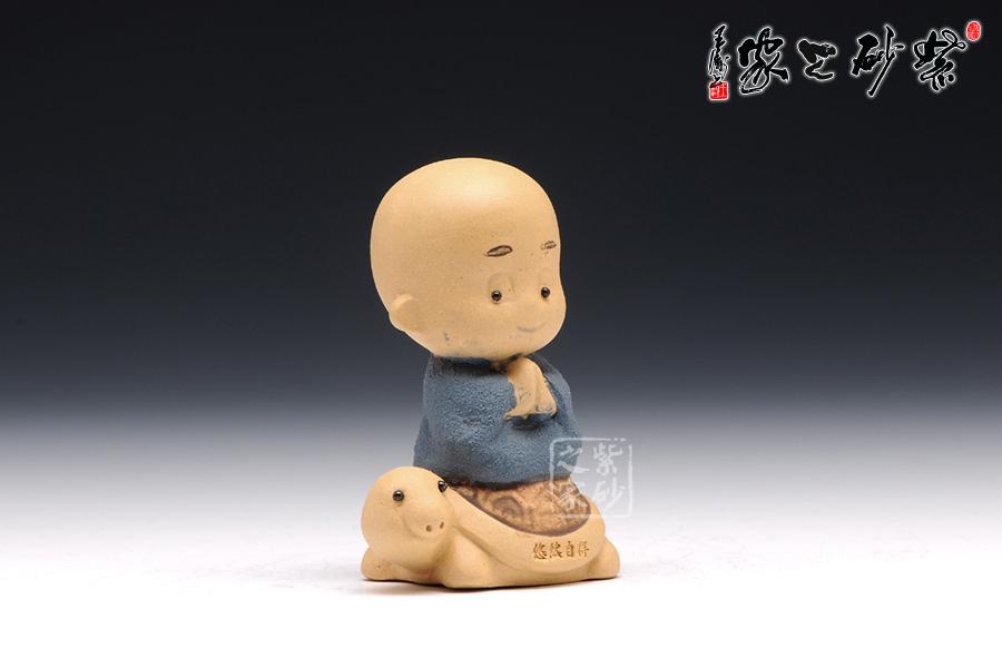 高档宜兴紫砂壶【小和尚(中秋活动)】