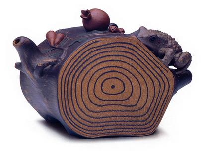 石榴树蛙壶