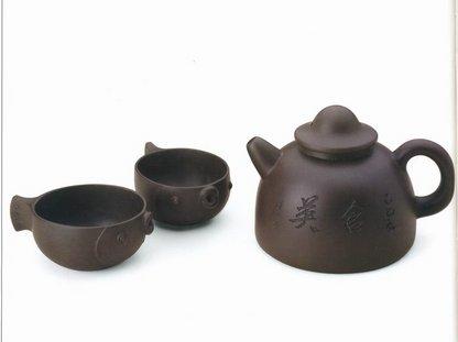 三头渔翁茶具