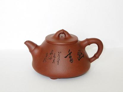 竹叶石瓢壶