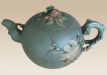 松鼠葡萄壶