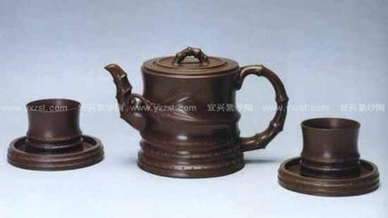 九头竹根茶具