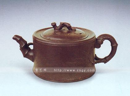 一节竹段壶