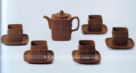 九头竹筒茶具