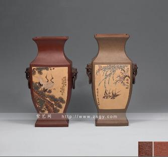 松鹤长春、春暖人间花瓶