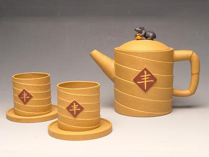 设计优秀奖展览评比(最高奖) 2002 年 10 月 《旭日》 全国中青年陶艺