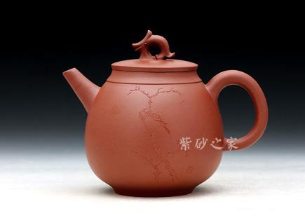 宜兴紫砂壶-大环龙-鲍敏霞
