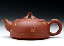 紫砂壶-专利-富贵如意-原矿底槽青-贺洪梅