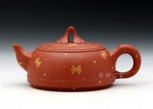 紫砂壶-专利-富贵如意-原矿红泥-贺洪梅