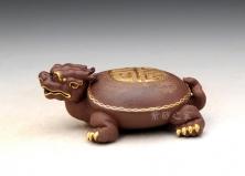 紫泥描金龙龟