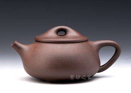 宜兴紫砂-阿丹石瓢-黑星砂-朱丹