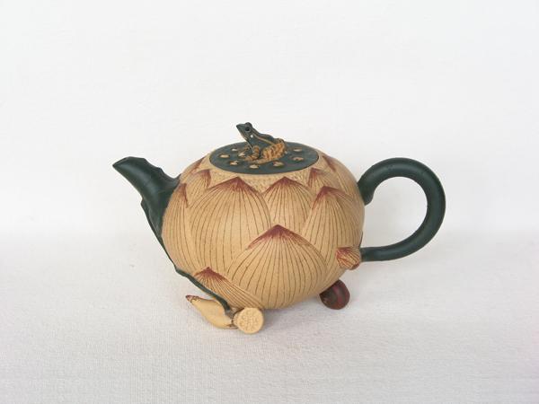 青蛙荷花套壶
