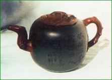 双色木瓜壶