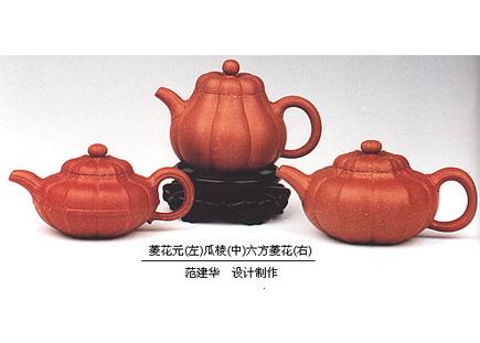 菱花线元(左)瓜棱(中)