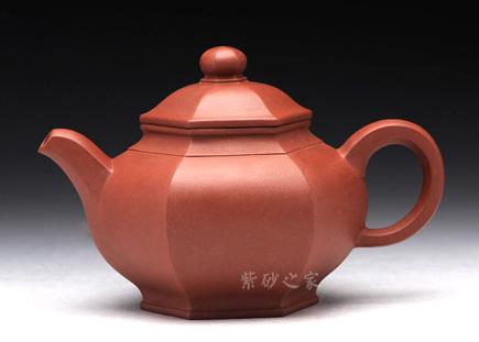 宜兴紫砂-六方壶-原矿清水泥-李逸军