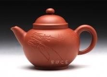 宜兴紫砂壶-圆珠(空谷幽兰)-原矿清水泥-董亚芳