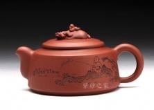 紫砂壶-专利-牛(12-原矿红泥-贺洪梅