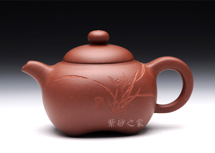 宜兴紫砂-丰韵(兰)-原矿清水泥-汤鸣皋