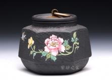 六方茶叶罐(牡丹)