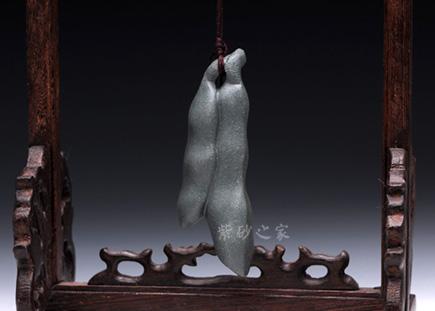 紫砂周边-刀豆-紫砂泥-雕塑摆件