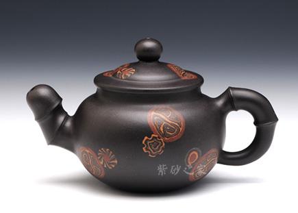 宜兴紫砂-竹韵-黑泥-陆利华