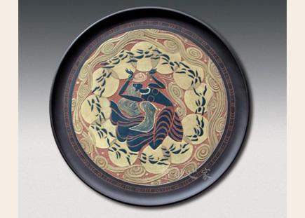 装饰紫砂盘-常羲沐月