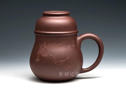 紫砂周边-葫芦杯-紫砂泥-盖杯