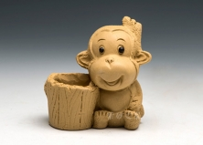 黄小猴子牙签筒
